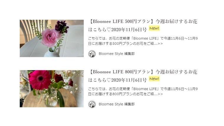 ブルーミースタイル 花